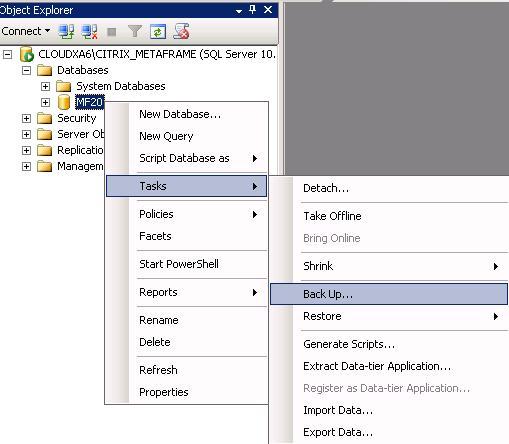 XenApp6 Datastore (SQL-Datenbank) auf einen anderen Server verschieben