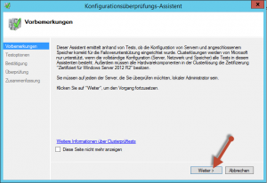 Cluster Konfigurationsüberprüfung01