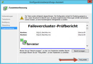 Cluster Konfigurationsüberprüfung04