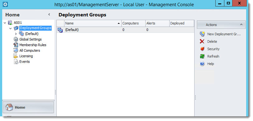 AppSense, Deployment Group erstellen
