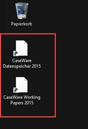 Published Apps Icons auf dem Desktop weiß